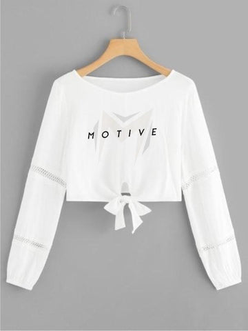 Motive Stylish Female Crop Top - Different Colors And Sizes Available