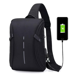 2018 Casual Messenger Bag Men Crossbody Bag USB Charging Design Chest Bag Pack Anti Theft Male Travel Shoulder Crossbody bags