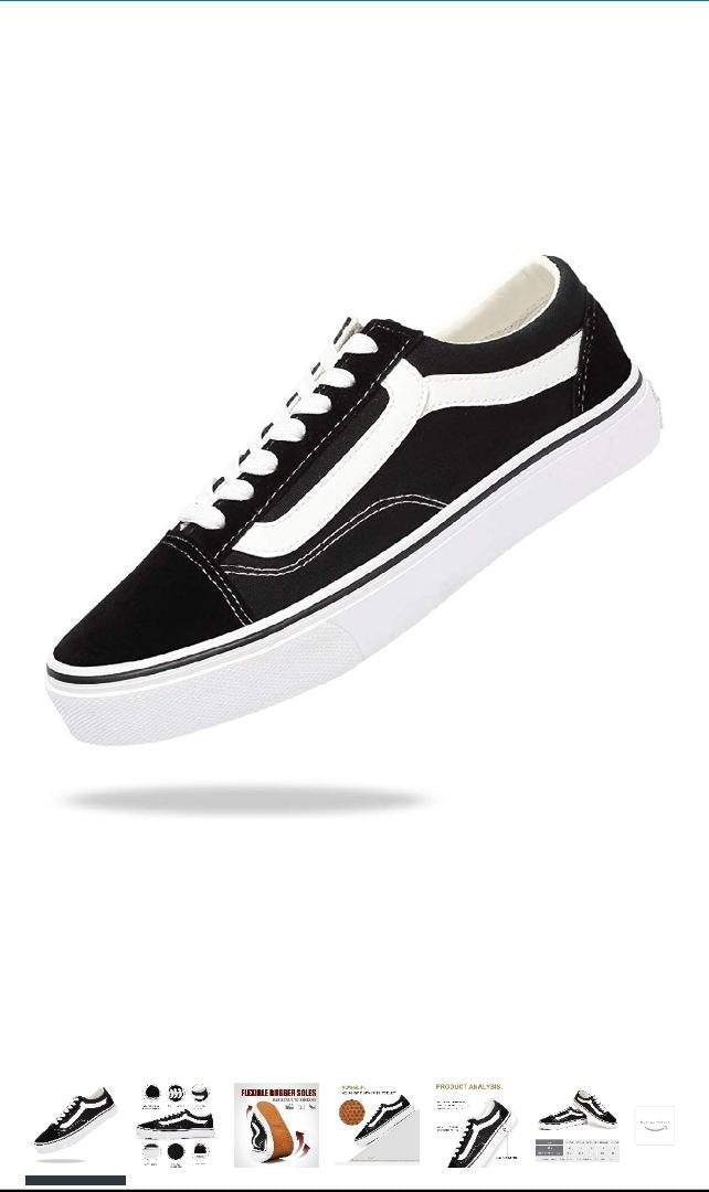 Cool White and Black Sneakers