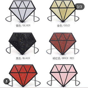 Diamond Shaped Clutch Purse