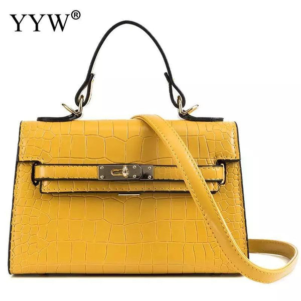 Designer Ladies Handbag - Yellow