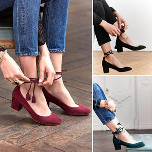 Fashion Middle Heel Lace-Up Sandals