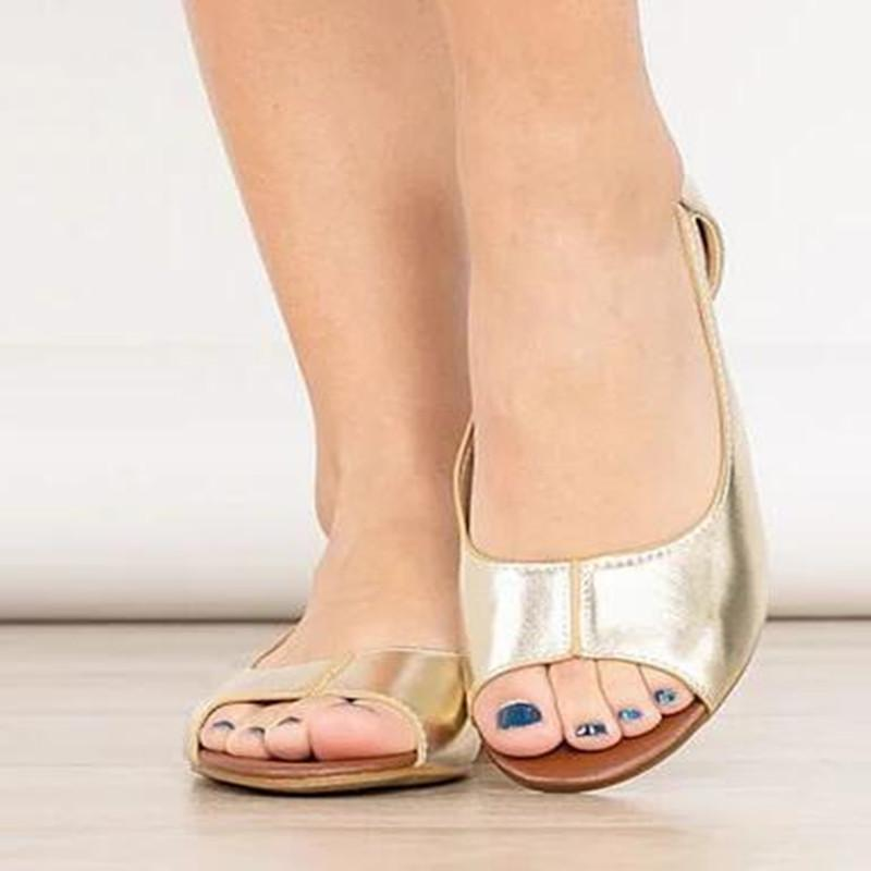 Peep Toe Date Casual Wedge Sandals