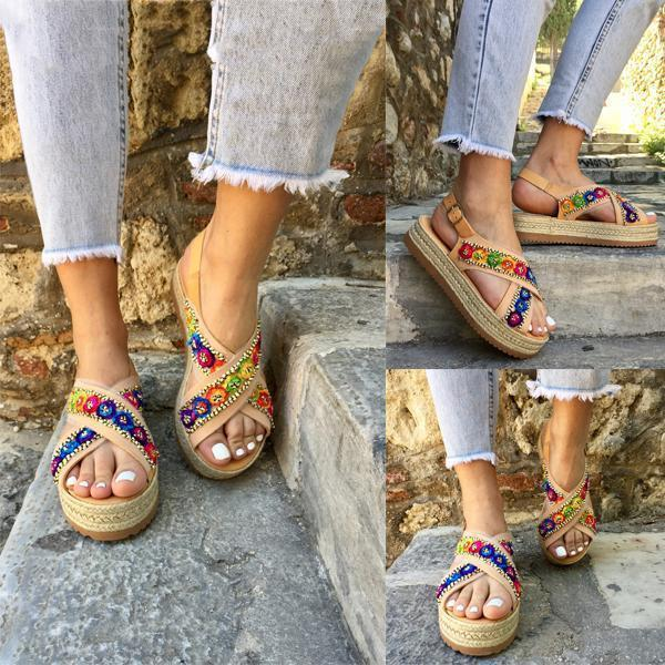 Daily Adjustable Buckle Plus Size Sandals