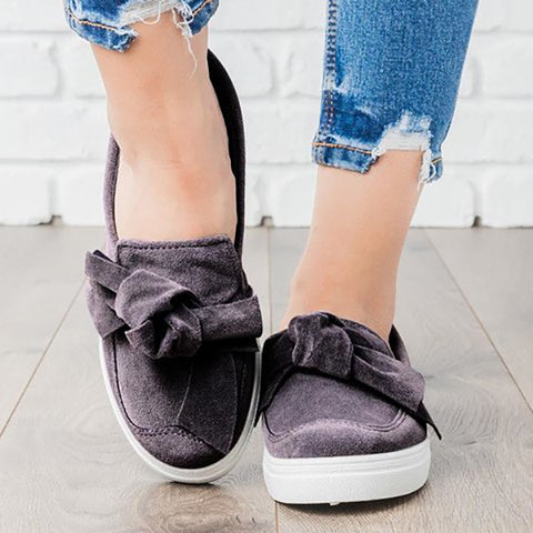 Comfy Loafers Casual Bowknot Shoes