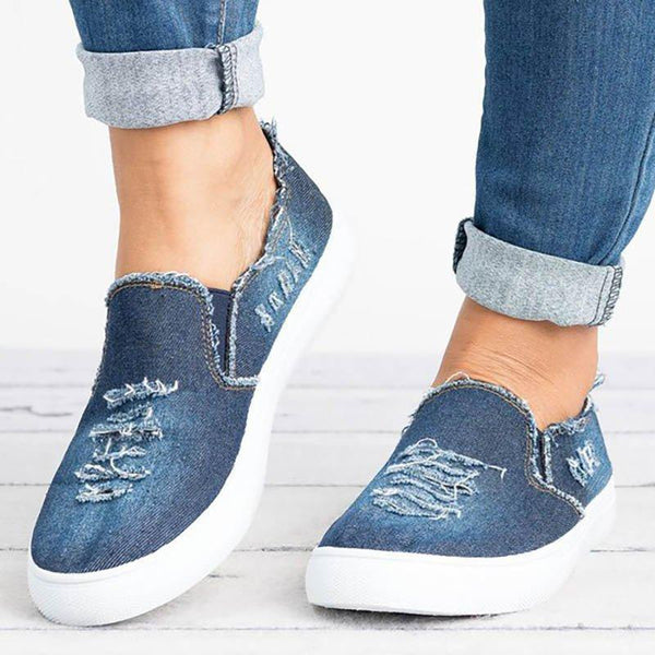 Women Denim All Season Casual Loafers