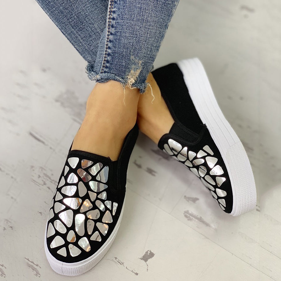 Sequin Embellished Casual Flat Shoes