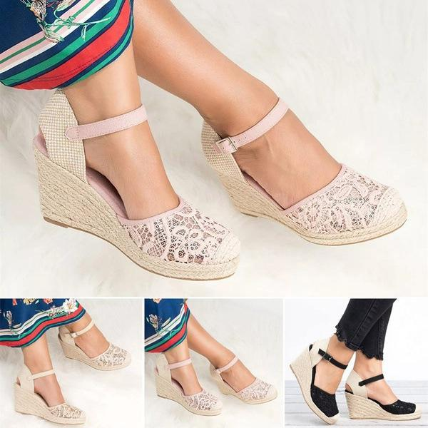 High Heel Hollowed Out Large Size Sandals