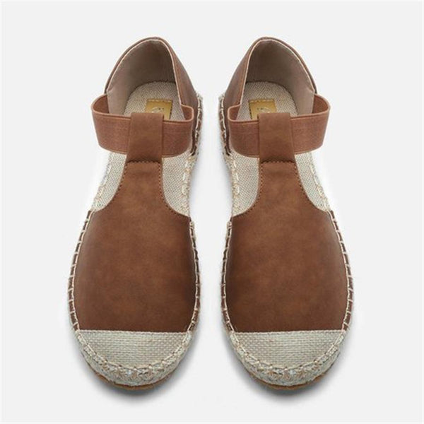 Retro Breathable Straw Flat Casual Shoes