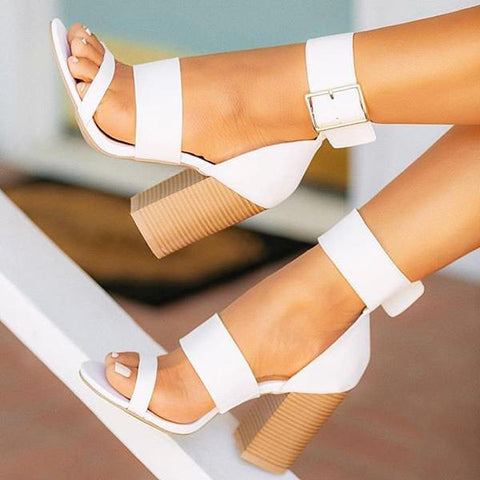 Sexy Solid Color High Heel Sandals