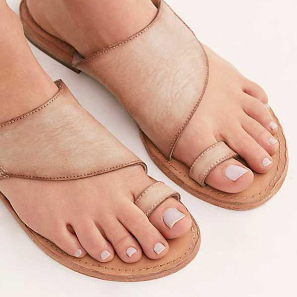 Vintage Summer Flat Flip-flops Slip-On Sandals Slippers