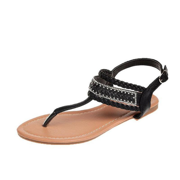 Women PU Sandals Casual Comfort Adjustable Buckle Shoes