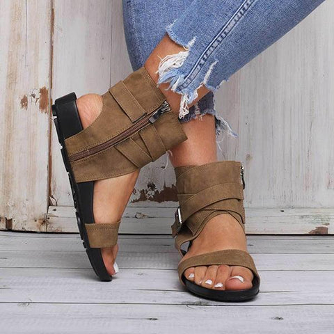 Simple Casual Zipper Sandals