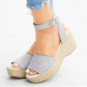 Fish Toe Wedge Sandals