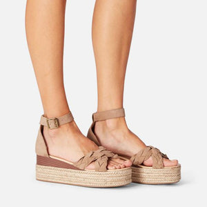 Casual Buckle Espadrille Wedge Sandals