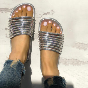 Shiny Strappy Non-Slip Slipper