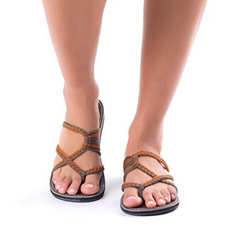 Casual Breathable Bandage Flat Slipper