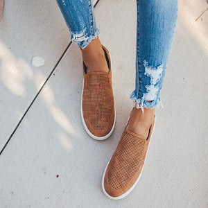Casual Solid Color Slip-On Flat Shoes