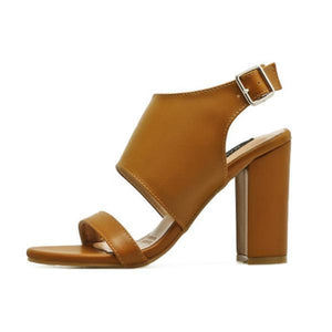 Fashion Round Toe Buckle Chunky Sandals