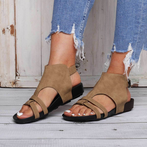 Comfy Sole Buckle Strap Sandals Women Summer Beach Sandals