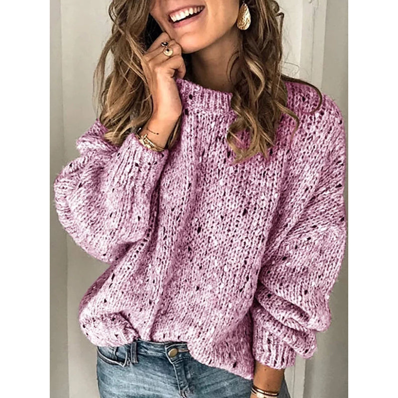 Vintage Casual Long Sleeve Sweater