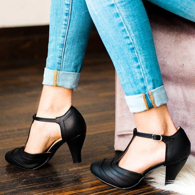 Fashion Summer Buckle Stiletto Heel Sandals