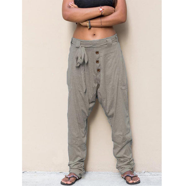 Pockets Casual Hippie Pants