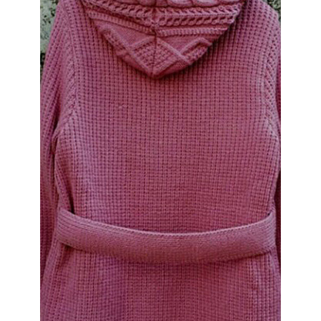 Vintage Buttoned Plain Knitted Cardigan