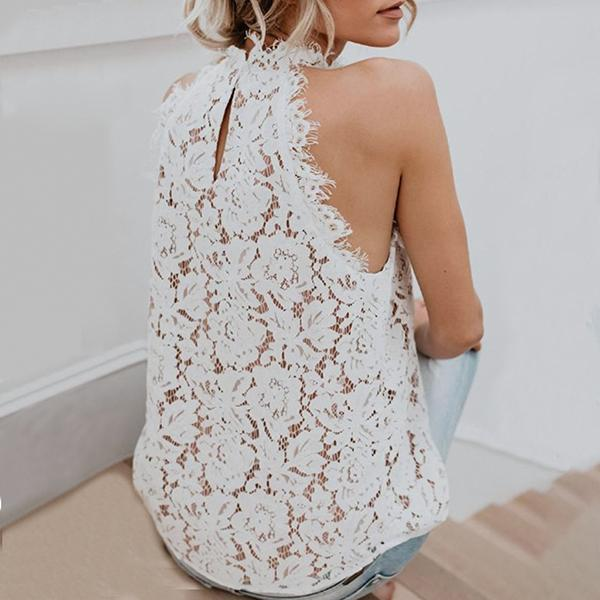 Summer Round Neck Lace Vests