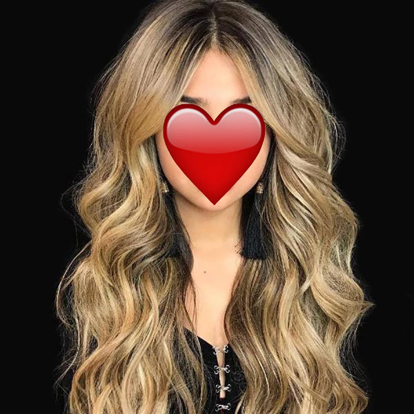 Mix Color Long Wavy Synthetic Hair Wig