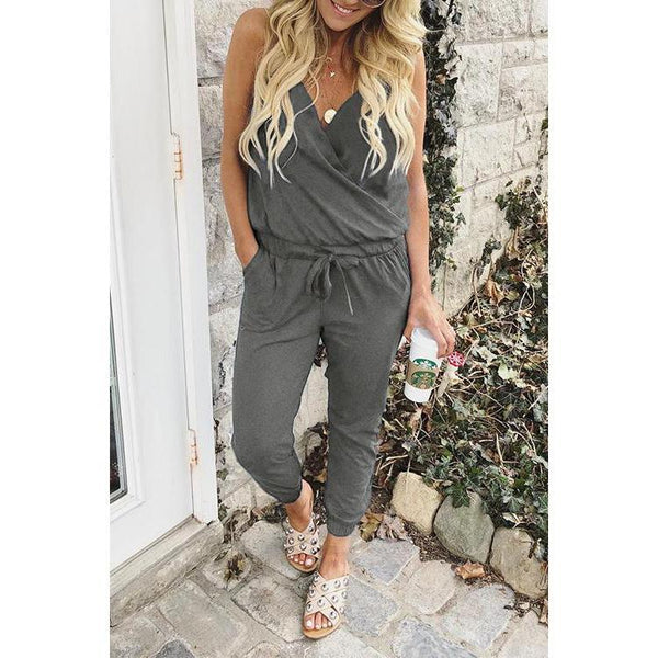 New Sling V-Neck Jumpsuit