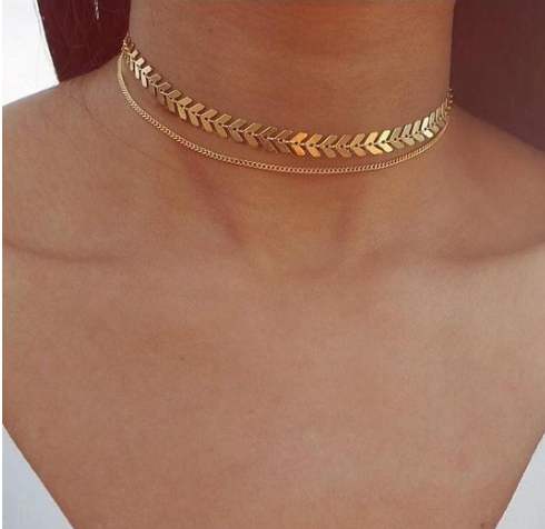 Temperament Fashion Fishbone Chain