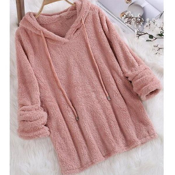 Casual Solid Color Long Sleeve Hoodies