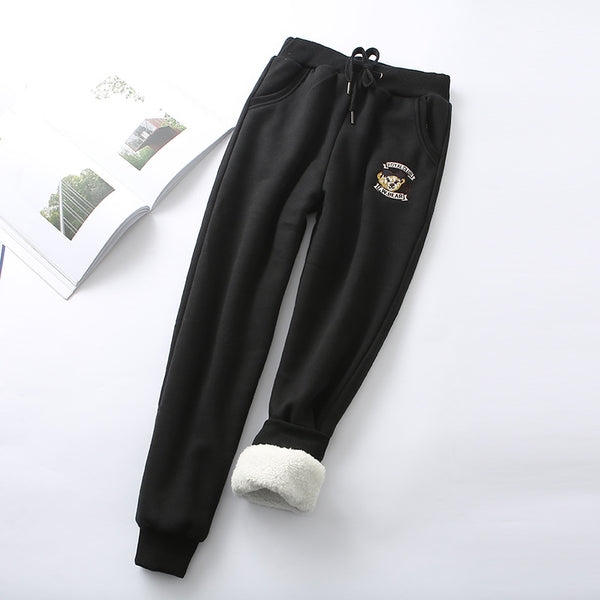 Solid Lace-up Pockets Sport Pants