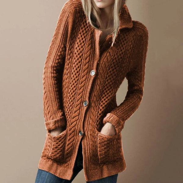 Plain Retro Elegant Casual Sweater