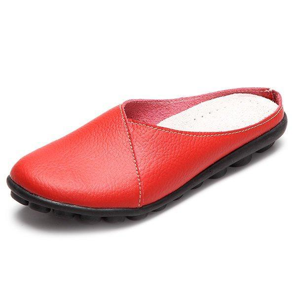 Casual Slip-On Flat Heel Slippers