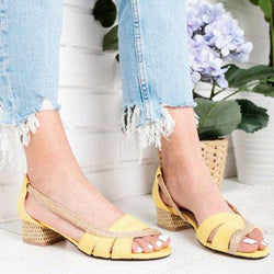 Casual Slip on Square Heel Sandals