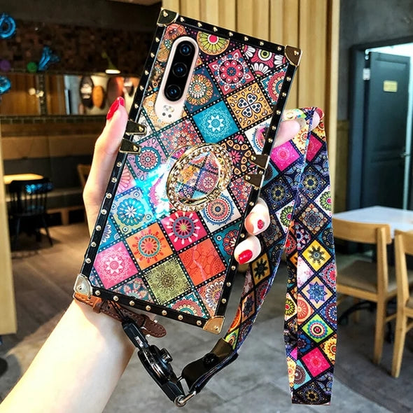 Bohemian Retro Crystal Bracket Phone Case for iPhone & Samsung & HUAWEI(Buy 1 Get 2nd 10% off (Code:mova10); Buy 2 Get 3rd 20% off (Code:mova20))