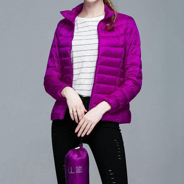 Warm Ultra Light Down Zipper Jackets