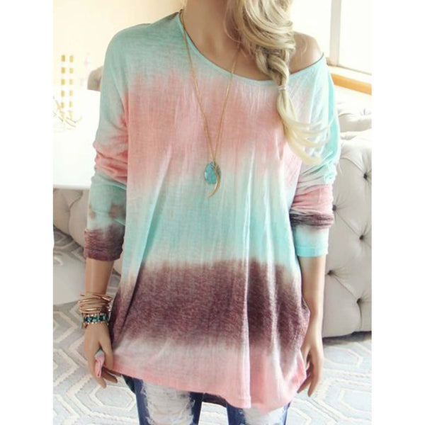 Casual Patchwork Color-block Blouses
