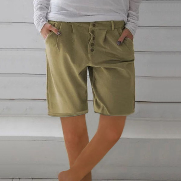 Casual Button Shorts Pants