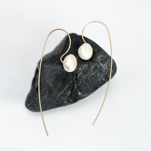 Womens Pear Vintage Simple Earrings