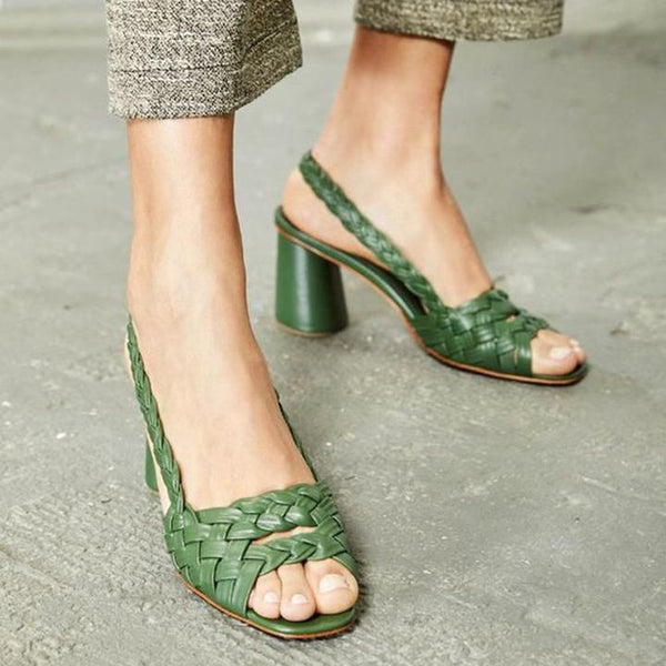 Casual Woven Low Heel Sandals