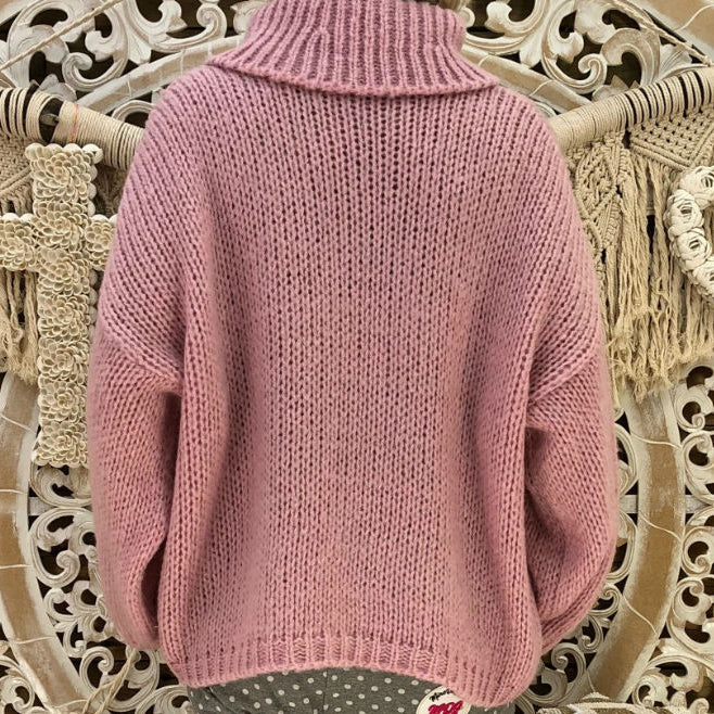Fashionable Casual Easy Turtleneck Sweater