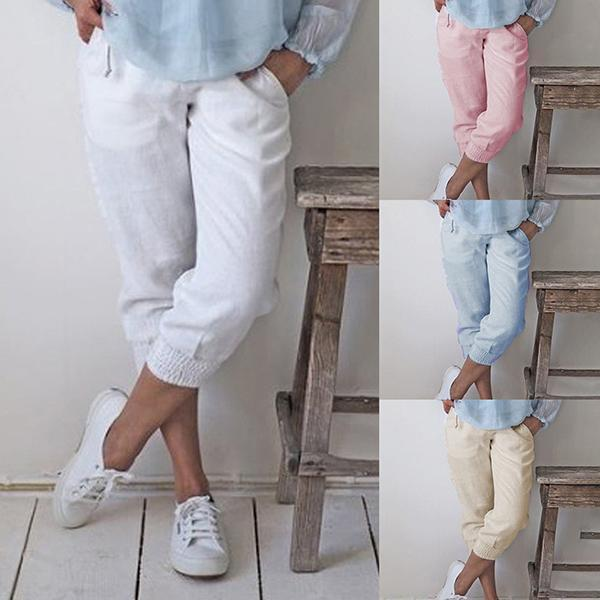 Women's Casual Comfy Elastic Pants