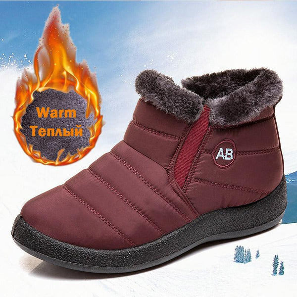 Women Ankle Boots Fur Warm Snow Boots