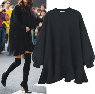 Oversize Loose Sweater Bottoming Dress