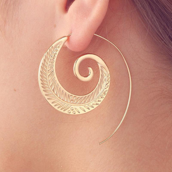Bohemia Retro Alloy Hollow Earrings