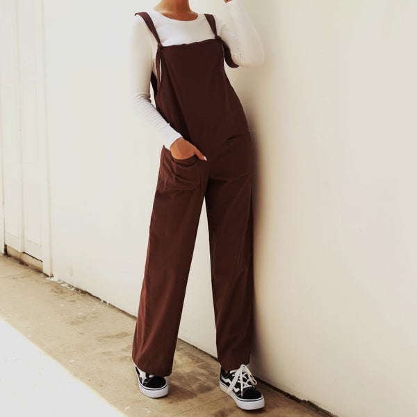 Casual Large Size Pocket Multicolor Jumpsuits