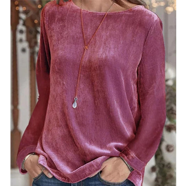 Plain Long Sleeve Casual Crew Neck Sweatershirts
